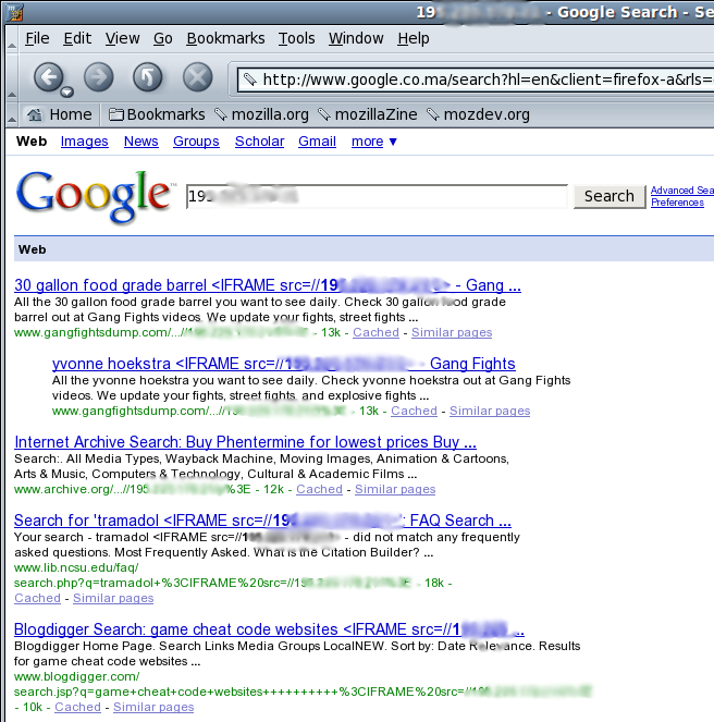 Recherche Google pour CSRF