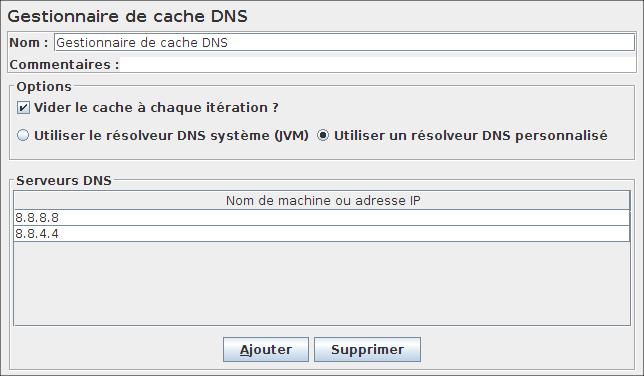 Gestionnaire de cache DNS
