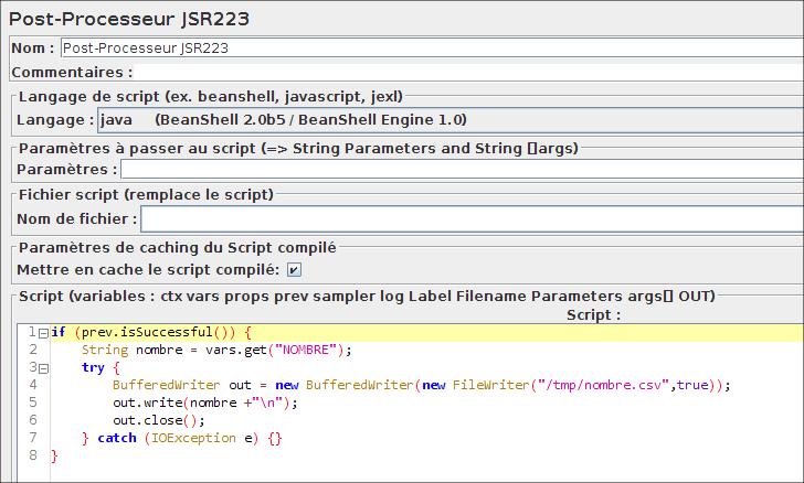 Post-Processeur JSR223 dans JMeter